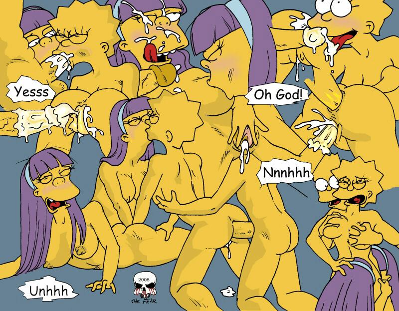 simpsons terri sherri and the Oppai infinity! the animation