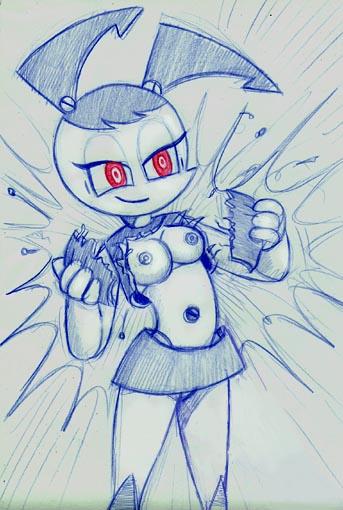 robot as a teen life my Puppet pal mitch and clem