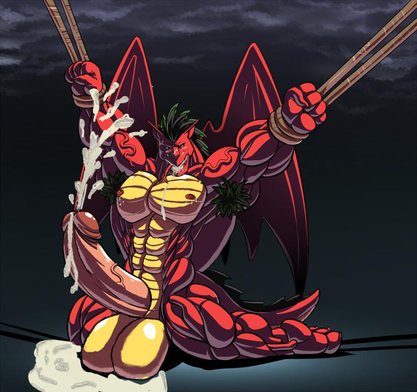 american jake transformation long dragon Ahoge girl and dark skinned girl