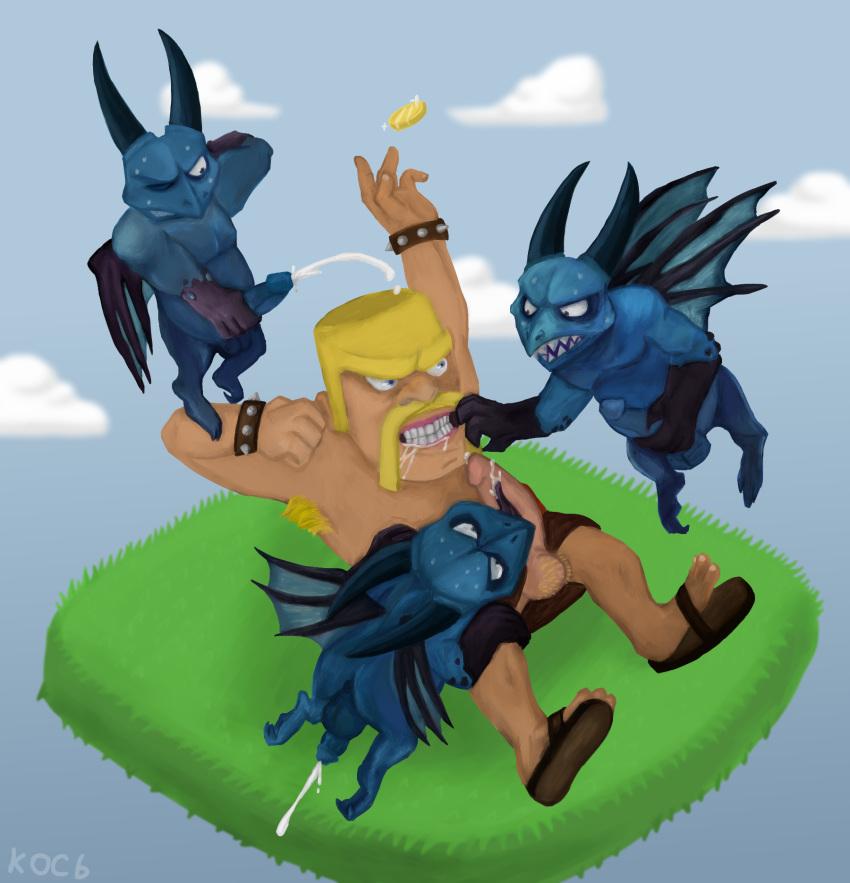 of clans clash I said slay the dragon not lay the dragon